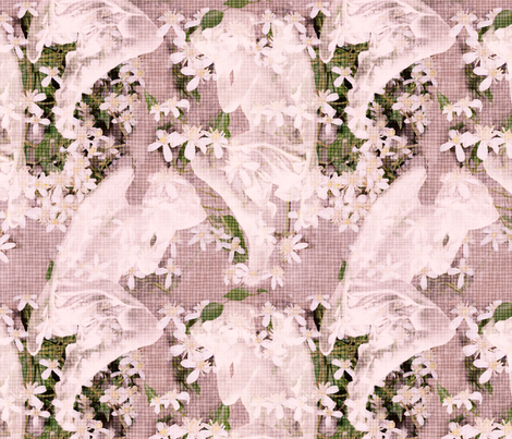 Angels Sleeping Pink fabric by dentednj on Spoonflower - custom fabric