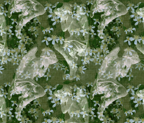 Angels Sleeping Forest fabric by dentednj on Spoonflower - custom fabric