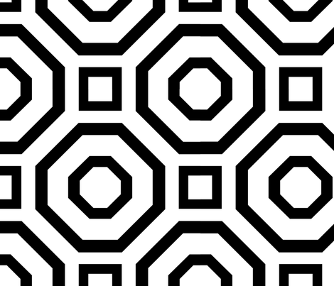 Geometry Black fabric by alicia_vance on Spoonflower - custom fabric