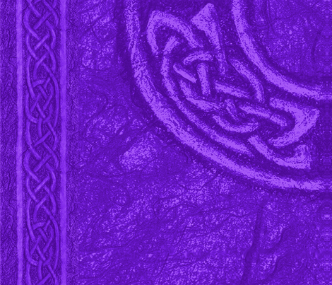 Ancient Celtic Ring Purple fabric by ingridthecrafty on Spoonflower - custom fabric