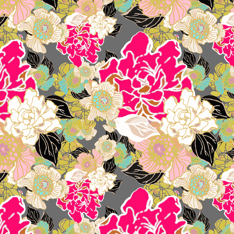 Jungle Passion  fabric by joanmclemore on Spoonflower - custom fabric