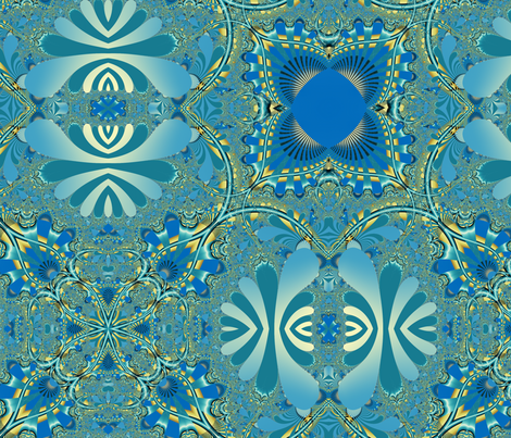 Garden Tangled fabric by winter on Spoonflower - custom fabric