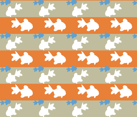 Goldfish fabric by malien00 on Spoonflower - custom fabric