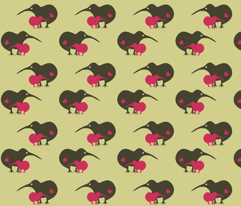Kiwi love fabric by malien00 on Spoonflower - custom fabric