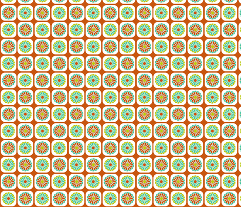 Zinnia Pattern fabric by eedeedesignstudios on Spoonflower - custom fabric