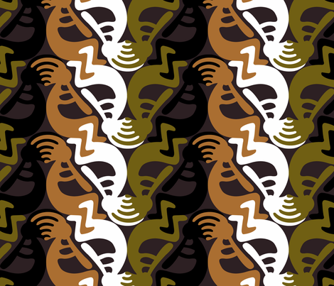 Kokopelli_tessellation_2 fabric by andrea11 on Spoonflower - custom fabric