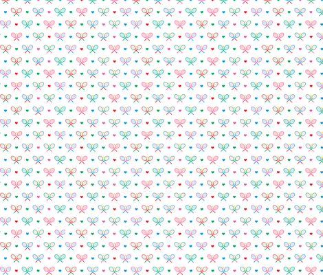Tennis Time - White fabric by christinopia on Spoonflower - custom fabric