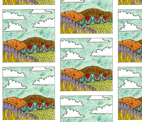 Rolling Hills fabric by taraput on Spoonflower - custom fabric
