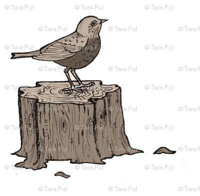 Bird on a stump