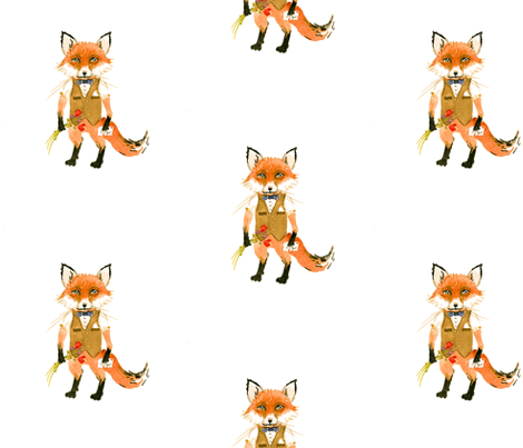 Mr. Fox fabric by taraput on Spoonflower - custom fabric