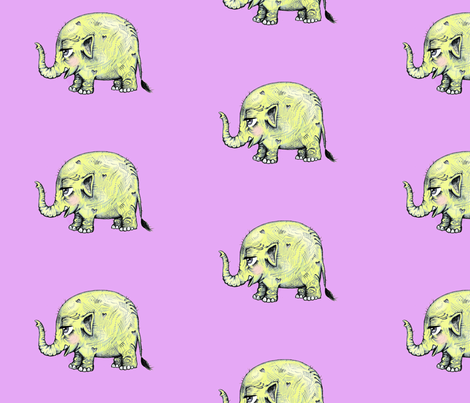 Baby Elephant fabric by taraput on Spoonflower - custom fabric