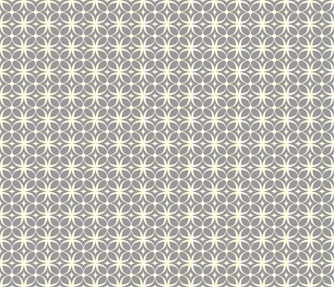 """Spring Rings"" in gray fabric by mytinystar on Spoonflower - custom fabric"