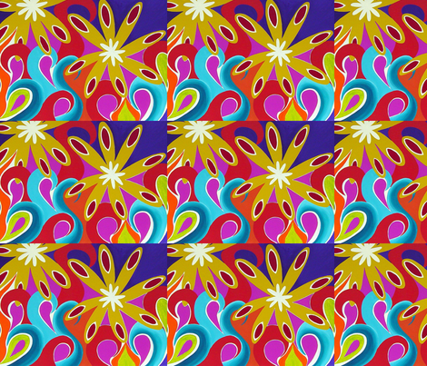 Yellow Flowers fabric by bright on Spoonflower - custom fabric