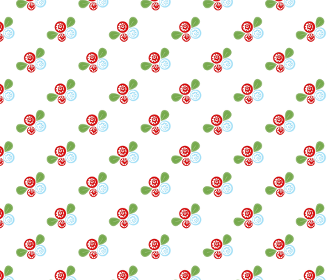 Button Flowers fabric by mayabella on Spoonflower - custom fabric