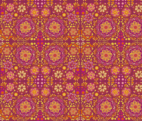 Creamsicle Pink fabric by emilyclaire on Spoonflower - custom fabric