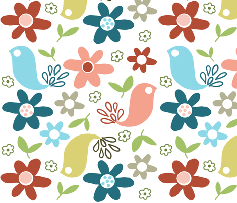 cheerful birds fabric by emilyb123 on Spoonflower - custom fabric