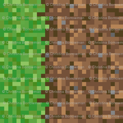 Pixelated Dirt and Grass - Rotated