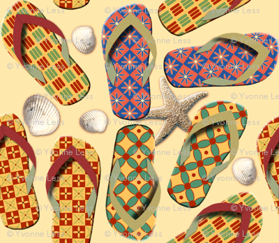 Shoes - Funny Beach Pattern