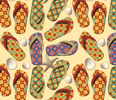 Shoes - Funny Beach Pattern fabric by diversepixel on Spoonflower - custom fabric