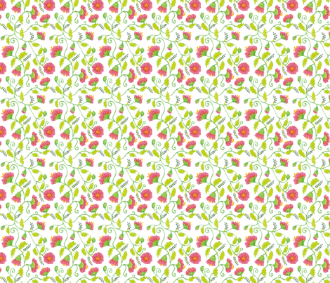 mini_floral_300_dpi fabric by victorialasher on Spoonflower - custom fabric