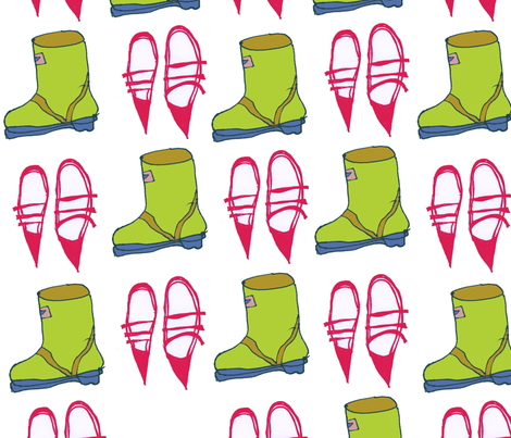 bootnshoes-ed fabric by zazandmo on Spoonflower - custom fabric