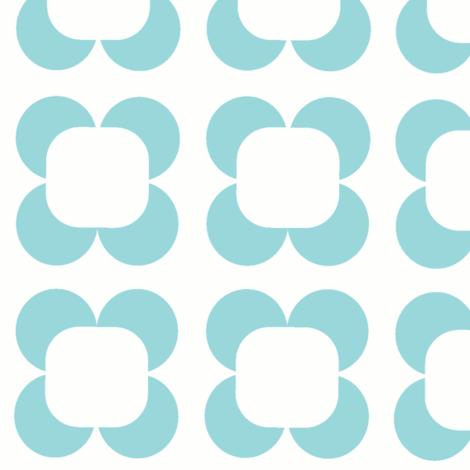 Retro Petals, Summer Joy Collection by Lana Kole-ch fabric by lana_kole on Spoonflower - custom fabric