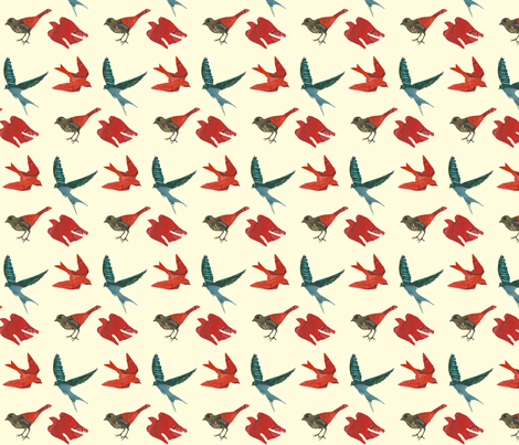 these birds (smaller) fabric by narthex on Spoonflower - custom fabric