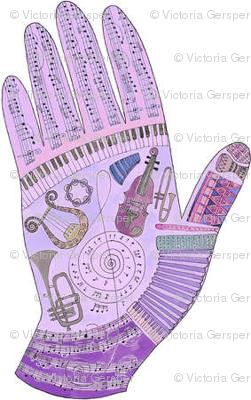 music mirror hand