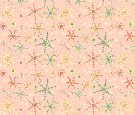 Snowflower Pink  fabric by juliamonroe on Spoonflower - custom fabric