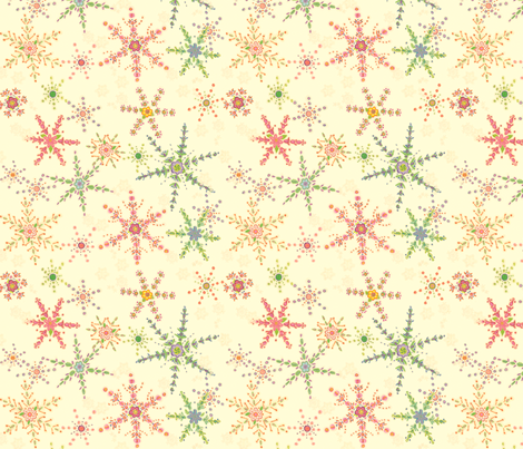 Snowflower Cream  fabric by juliamonroe on Spoonflower - custom fabric