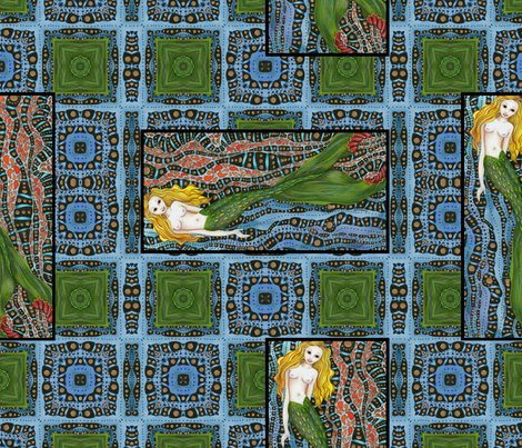fantasy_mermaid_background_3b_16x16 fabric by vickijenkinsart on Spoonflower - custom fabric
