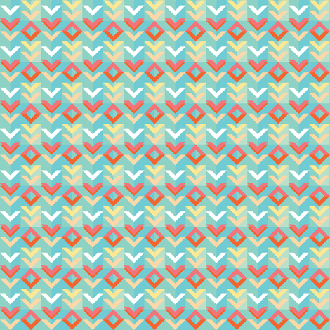 Folk Chevron (Sky) fabric by volkstricken on Spoonflower - custom fabric