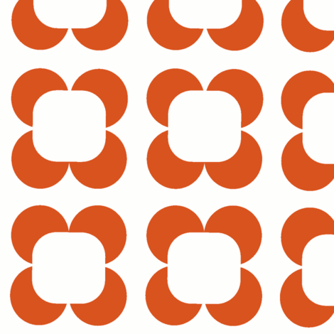 Retro Petals in citrus fabric by lana_kole on Spoonflower - custom fabric