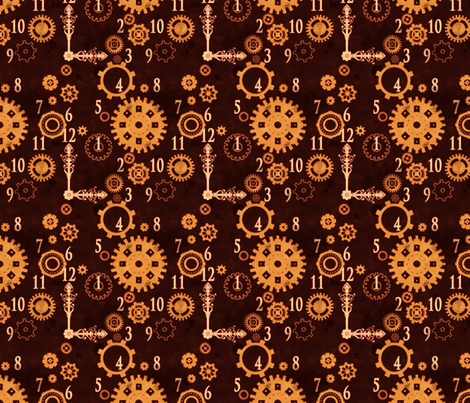 Clockwork 1 fabric by jadegordon on Spoonflower - custom fabric