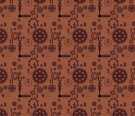 Clockwork 2 fabric by jadegordon on Spoonflower - custom fabric
