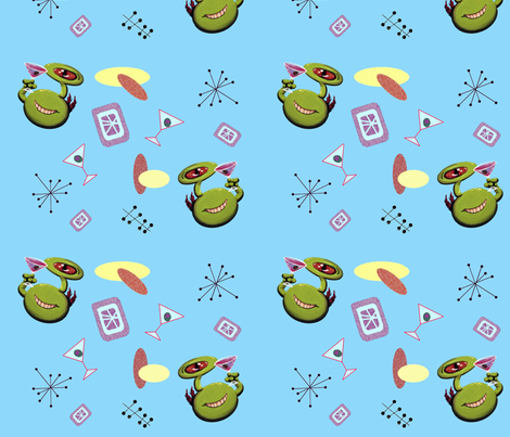 Martian Martini Madness fabric by squarejane on Spoonflower - custom fabric