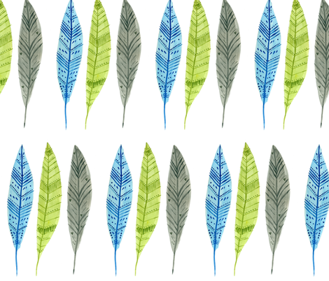 Feathers fabric by taraput on Spoonflower - custom fabric