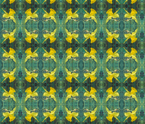 daffodil-oil-pochade-chris-carter-artist-040510b fabric by chris_carter on Spoonflower - custom fabric