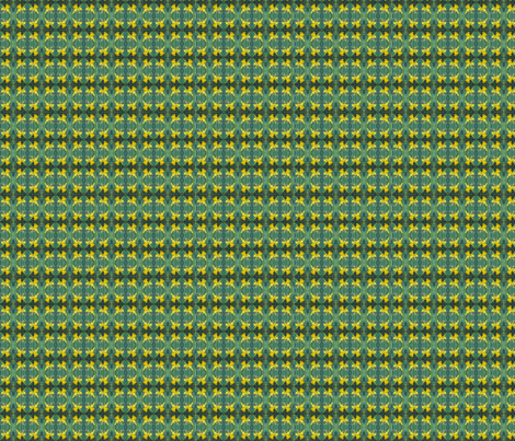 daffodils-mirror-repeat-chris-carter fabric by chris_carter on Spoonflower - custom fabric
