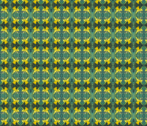 daffodil-close-up-repeat-03-chris-carter fabric by chris_carter on Spoonflower - custom fabric
