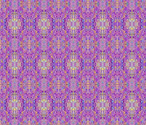 Sharp Purple Bricks fabric by audarrt on Spoonflower - custom fabric