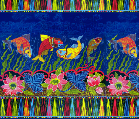 4fish-pond01 fabric by eva_the_hun on Spoonflower - custom fabric