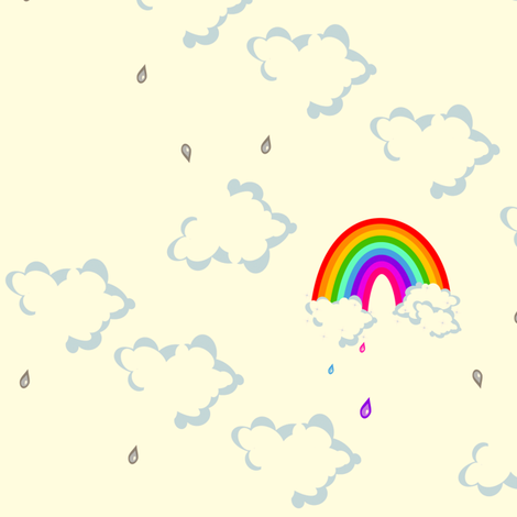 Mega Cloudy - Chance of Rainbow Rain! -  © PinkSodaPop 4ComputerHeaven.com