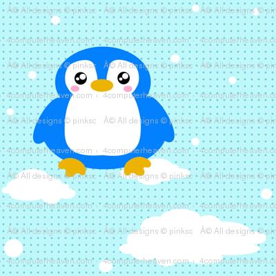 Snowy Baby Penguin! - © PinkSodaPop 4ComputerHeaven.com