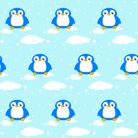 Snowy Baby Penguin! - © PinkSodaPop 4ComputerHeaven.com fabric by pinksodapop on Spoonflower - custom fabric