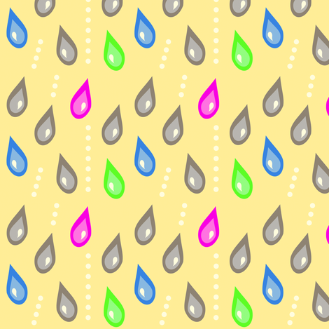 Lots of Rainy Rainbow Rain! - © PinkSodaPop 4ComputerHeaven.com fabric by pinksodapop on Spoonflower - custom fabric