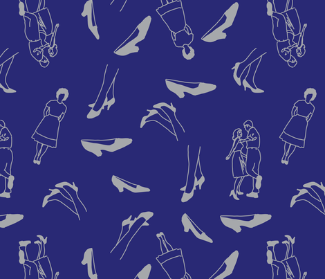 Dancing Shoes fabric by ianrgold on Spoonflower - custom fabric