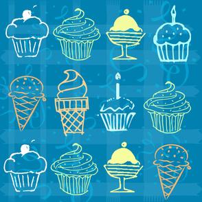 Cupcake & icecream celebration