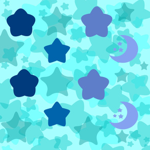 Blue starry sky
