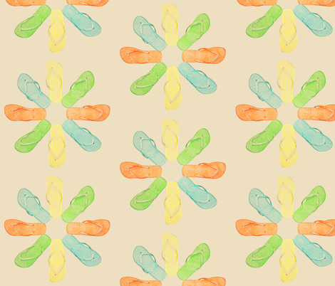 Flip-Flop Summer Daisy fabric by janco on Spoonflower - custom fabric